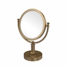 Allied Brass DM-4T/2X-BBR 8 Inch Vanity Top Make-Up Mirror 2X Magnification, Brushed Bronze