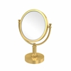 Allied Brass DM-4T/2X-UNL 8 Inch Vanity Top Make-Up Mirror 2X Magnification, Unlacquered Brass