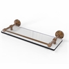 Allied Brass DT-1/16-GAL-BBR Dottingham 16 Inch Glass Shelf with Gallery Rail, Brushed Bronze