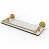 Allied Brass DT-1/16-GAL-PB Dottingham 16 Inch Glass Shelf with Gallery Rail, Polished Brass