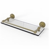 Allied Brass DT-1/16-GAL-SBR Dottingham 16 Inch Glass Shelf with Gallery Rail, Satin Brass
