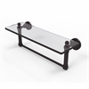DT-1TB/16-ABZ Dottingham 16 Inch Glass Vanity Shelf with Integrated Towel Bar, Antique Bronze