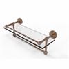 Allied Brass DT-1TB/16-GAL-BBR Dottingham 16 Inch Gallery Glass Shelf with Towel Bar, Brushed Bronze