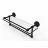 Allied Brass DT-1TB/16-GAL-ORB Dottingham 16 Inch Gallery Glass Shelf with Towel Bar, Oil Rubbed Bronze