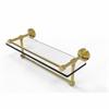 Allied Brass DT-1TB/16-GAL-PB Dottingham 16 Inch Gallery Glass Shelf with Towel Bar, Polished Brass