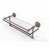 Allied Brass DT-1TB/16-GAL-PEW Dottingham 16 Inch Gallery Glass Shelf with Towel Bar, Antique Pewter