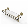 Allied Brass DT-1TB/16-GAL-SBR Dottingham 16 Inch Gallery Glass Shelf with Towel Bar, Satin Brass