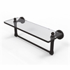 DT-1TB/16-ORB Dottingham 16 Inch Glass Vanity Shelf with Integrated Towel Bar, Oil Rubbed Bronze