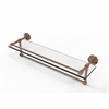 Allied Brass DT-1TB/22-GAL-BBR Dottingham 22 Inch Gallery Glass Shelf with Towel Bar, Brushed Bronze