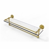 Allied Brass DT-1TB/22-GAL-PB Dottingham 22 Inch Gallery Glass Shelf with Towel Bar, Polished Brass