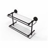 DT-2/16-GAL-ORB Dottingham 16 Inch Double Glass Shelf with Gallery Rail, Oil Rubbed Bronze