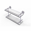 Allied Brass DT-2/16-GAL-PC Dottingham 16 Inch Double Glass Shelf with Gallery Rail, Polished Chrome