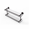 DT-2/22-GAL-ABZ Dottingham 22 Inch Double Glass Shelf with Gallery Rail, Antique Bronze