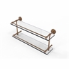 Allied Brass DT-2/22-GAL-BBR Dottingham 22 Inch Double Glass Shelf with Gallery Rail, Brushed Bronze