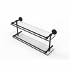 Allied Brass DT-2/22-GAL-ORB Dottingham 22 Inch Double Glass Shelf with Gallery Rail, Oil Rubbed Bronze
