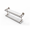 Allied Brass DT-2/22-GAL-PEW Dottingham 22 Inch Double Glass Shelf with Gallery Rail, Antique Pewter