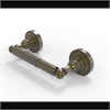 Allied Brass DT-24-ABR Dottingham Collection 2 Post Toilet Tissue Holder, Antique Brass