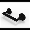 Allied Brass DT-24-BKM Dottingham Collection 2 Post Toilet Tissue Holder, Matte Black