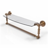 Allied Brass DT-33TB/18-BBR Dottingham 18 Inch  Glass Vanity Shelf  with Integrated Towel Bar, Brushed Bronze