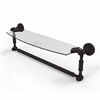 Allied Brass DT-33TB/18-ORB Dottingham 18 Inch  Glass Vanity Shelf  with Integrated Towel Bar, Oil Rubbed Bronze