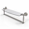 Allied Brass DT-33TB/18-SN Dottingham 18 Inch  Glass Vanity Shelf  with Integrated Towel Bar, Satin Nickel