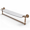 Allied Brass DT-33TB/24-BBR Dottingham 24 Inch  Glass Vanity Shelf  with Integrated Towel Bar, Brushed Bronze