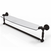 Allied Brass DT-33TB/24-ORB Dottingham 24 Inch  Glass Vanity Shelf  with Integrated Towel Bar, Oil Rubbed Bronze
