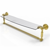 Allied Brass DT-33TB/24-PB Dottingham 24 Inch  Glass Vanity Shelf  with Integrated Towel Bar, Polished Brass