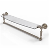 Allied Brass DT-33TB/24-PEW Dottingham 24 Inch  Glass Vanity Shelf  with Integrated Towel Bar, Antique Pewter