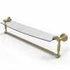 Allied Brass DT-33TB/24-SBR Dottingham 24 Inch  Glass Vanity Shelf  with Integrated Towel Bar, Satin Brass