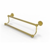 Allied Brass DT-72/18-UNL Dottingham Collection 18 Inch Double Towel Bar, Unlacquered Brass