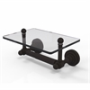 Allied Brass DT-GLT-24-ORB Dottingham Collection Two Post Toilet Tissue Holder with Glass Shelf, Oil Rubbed Bronze