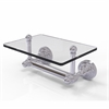 Allied Brass DT-GLT-24-PC Dottingham Collection Two Post Toilet Tissue Holder with Glass Shelf, Polished Chrome