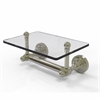 Allied Brass DT-GLT-24-PNI Dottingham Collection Two Post Toilet Tissue Holder with Glass Shelf, Polished Nickel