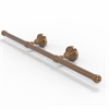 Allied Brass DT-GT-3-BBR Dottingham Collection Wall Mounted Horizontal Guest Towel Holder, Brushed Bronze