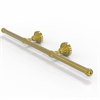 Allied Brass DT-GT-3-PB Dottingham Collection Wall Mounted Horizontal Guest Towel Holder, Polished Brass