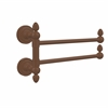 Allied Brass DT-GTB-2-ABZ Dottingham Collection 2 Swing Arm Towel Rail, Antique Bronze