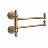 Allied Brass DT-GTB-2-BBR Dottingham Collection 2 Swing Arm Towel Rail, Brushed Bronze