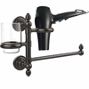 Allied Brass DT-GTBD-1-ORB Dottingham Collection Hair Dryer Holder and Organizer, Oil Rubbed Bronze