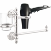 Allied Brass DT-GTBD-1-PC Dottingham Collection Hair Dryer Holder and Organizer, Polished Chrome