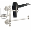 Allied Brass DT-GTBD-1-PNI Dottingham Collection Hair Dryer Holder and Organizer, Polished Nickel