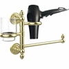 Allied Brass DT-GTBD-1-SBR Dottingham Collection Hair Dryer Holder and Organizer, Satin Brass