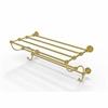 Allied Brass DT-HTL/24-5-UNL Dottingham Collection 24 Inch Train Rack Towel Shelf, Unlacquered Brass
