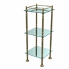 Allied Brass ET-14X143TGL-ABR Three Tier Etagere with 14 Inch x 14 Inch Shelves, Antique Brass