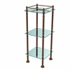 Allied Brass ET-14X143TGL-ABZ Three Tier Etagere with 14 Inch x 14 Inch Shelves, Antique Bronze