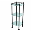 Allied Brass ET-14X143TGL-BKM Three Tier Etagere with 14 Inch x 14 Inch Shelves, Matte Black