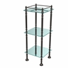 Allied Brass ET-14X143TGL-ORB Three Tier Etagere with 14 Inch x 14 Inch Shelves, Oil Rubbed Bronze