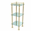Allied Brass ET-14X143TGL-UNL Three Tier Etagere with 14 Inch x 14 Inch Shelves, Unlacquered Brass