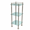 Allied Brass ET-14X143TGL-PEW Three Tier Etagere with 14 Inch x 14 Inch Shelves, Antique Pewter