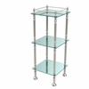 Allied Brass ET-14X143TGL-PNI Three Tier Etagere with 14 Inch x 14 Inch Shelves, Polished Nickel